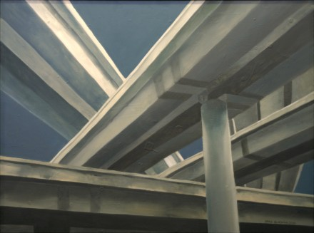 "Oil painting ""Interchange"" by Brad Blackman"