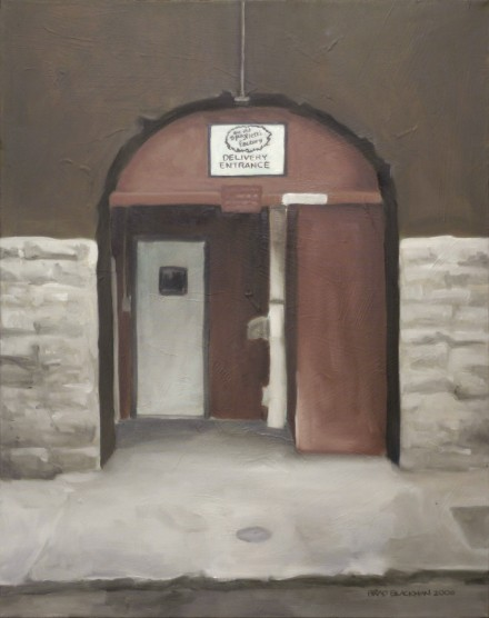 "Oil painting ""The Old Spaghetti Factory Delivery Entrance"" by Brad Blackman"