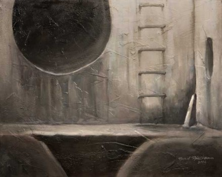 "Oil painting ""Sewer I"" by Brad Blackman"